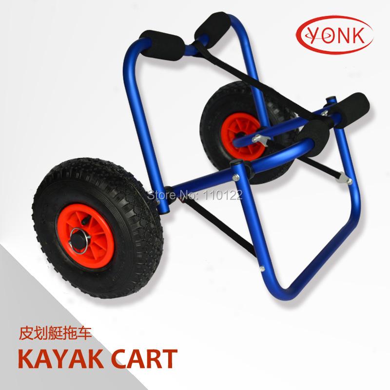 Y02005BLU Deluxe multifunction folding Aluminum canoe kayak cart beach cart trolley(China (Mainland))