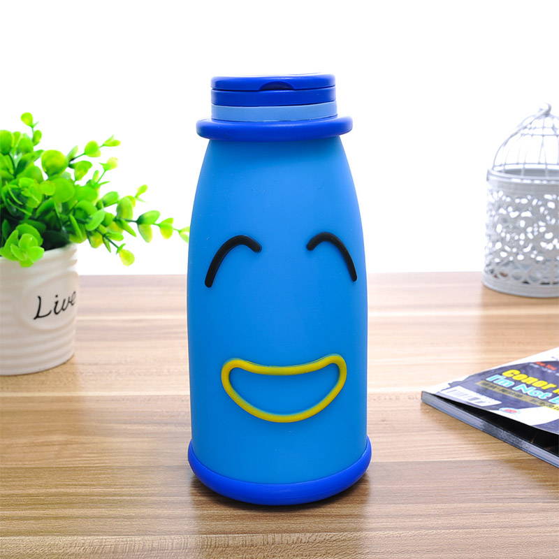 380ml Coffee Thermos Stainless Steel Kids Cute Doll Mug Candy Color Vacuum Thermos Cup Mug Tea Coffee Water Bottles YFQ-14381(China (Mainland))