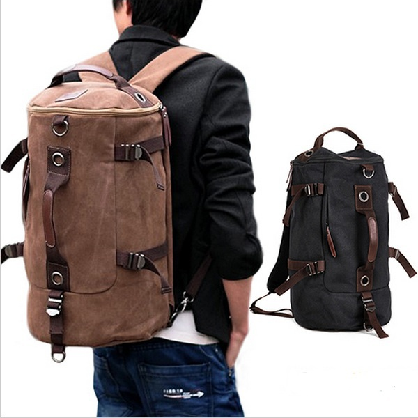 Men's Casual Vintage Canvas Backpack Messenger Rucksack school Satchel Crossbody Outdoor Hiking Camping bag Back Pack HB21(China (Mainland))