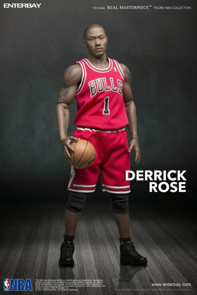 """1/6 scale Super Flexible figure doll Derrick Rose 12"""" Action figure doll Collectible Figure Plastic Model Toys(China (Mainland))"""