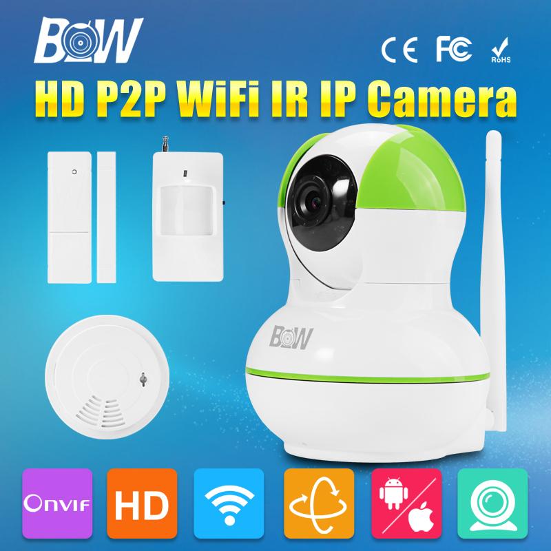 mini ip camera infrared motion door sensor smoke detector hd 720p p2p wireless wifi cctv. Black Bedroom Furniture Sets. Home Design Ideas