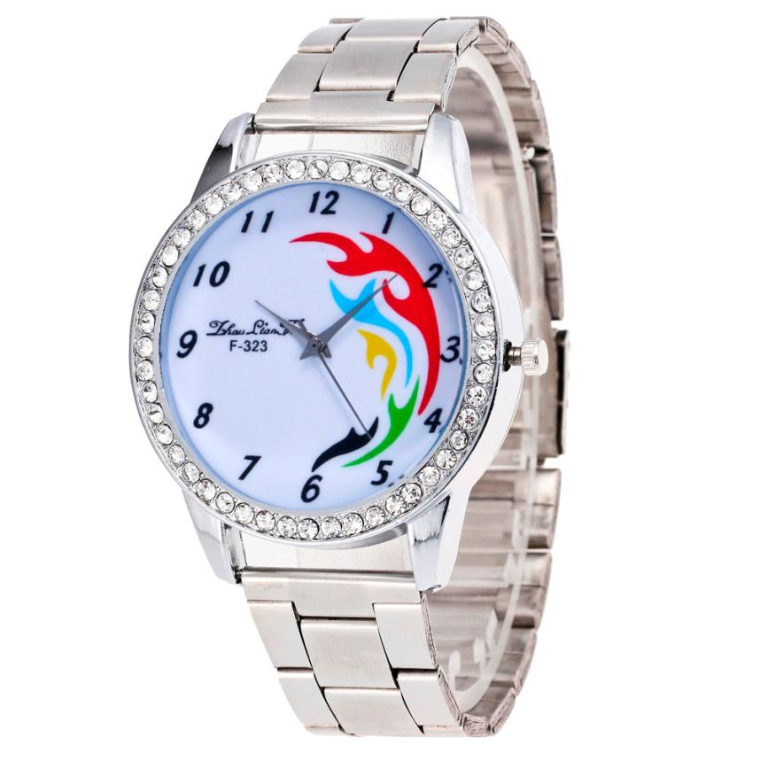 women watch fashion sliver design simplicity Fresh and clean style stainless steel simple face fashion quartz watches relojes(China (Mainland))