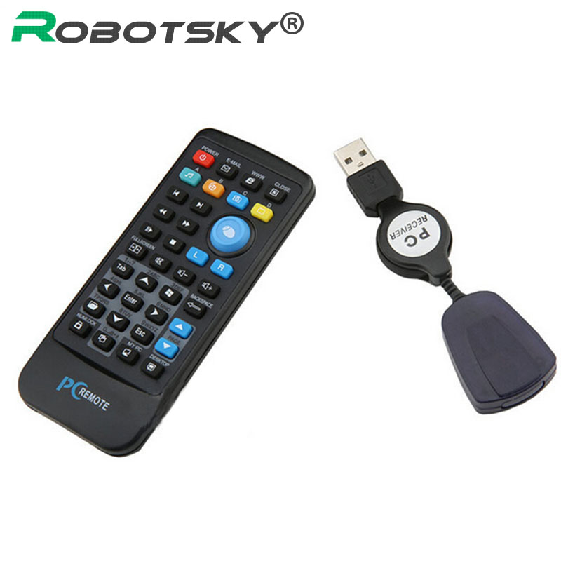 USB Media IR Wireless Mouse Remote Control Controller USB Receiver For Loptop PC Computer Center Windows Xp Vista