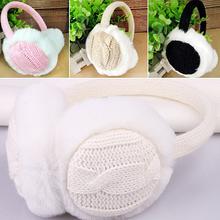 2016 New Women Girl Winter Warm Kint Earmuffs Earwarmers Ear Muffs Earlap Warmer Headband(China (Mainland))