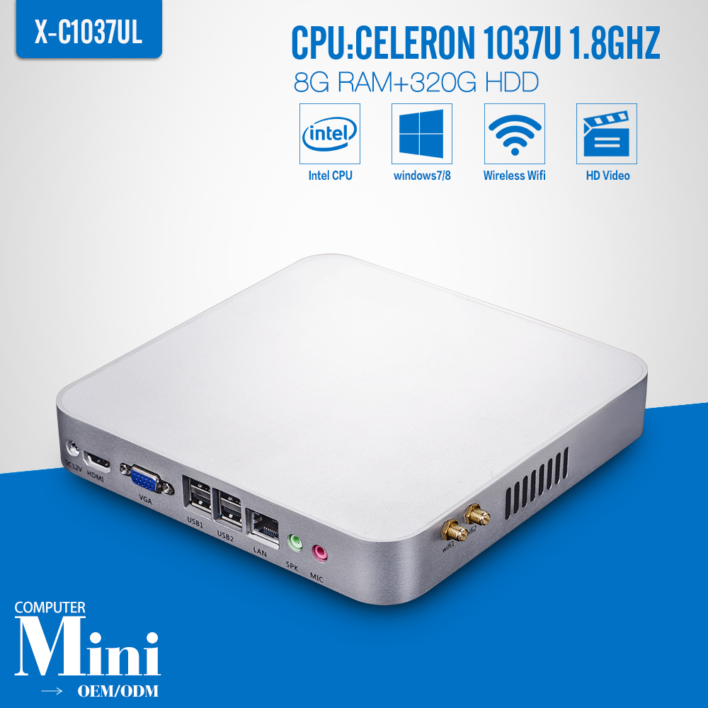 Celeron C1037U 8G RAM+320G HDD+WIFI Support Win 7 XP System Thin Client Thin Client Office Networking(China (Mainland))