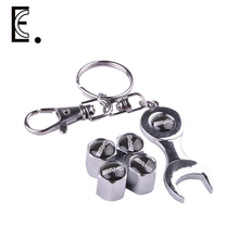 Free Shipping Mercedes Benz Accessories Car Styling Car Wheel Tire Valve Caps with Mini Wrench Benz Keychain for AMG 4pcs/Pack(China (Mainland))