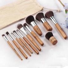 11 pcs Professional Make Up Tools Pincel Maquiagem Wood Handle Makeup Cosmetic Eyeshadow Foundation Concealer Brush Set Kit(China (Mainland))
