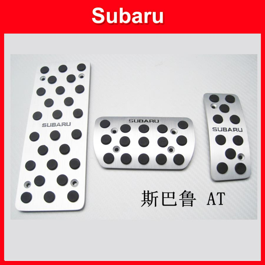 high quality Aluminum Foot Rest Fuel Brake Pedal For Subaru Forester Impreza Legacy Outback (AT MT) free shipping<br><br>Aliexpress