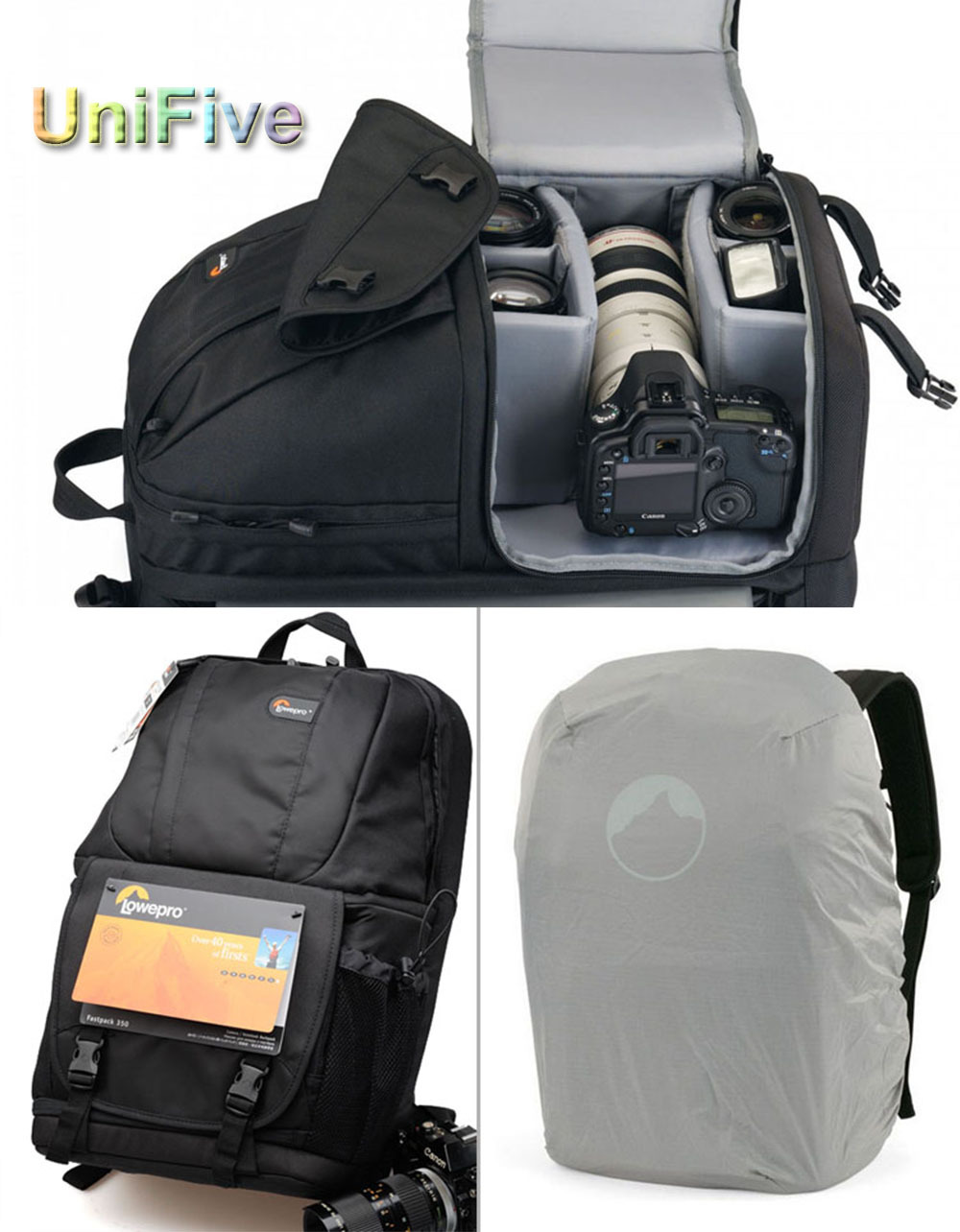 Сумка для видеокамеры Lowepro Fastpack 350 DSLR Canon Nikon Sony Fastpack 350 Black genuine lowepro dslr video fastpack 350 aw dvp 350aw slr camera bag shoulder bag 17 laptop