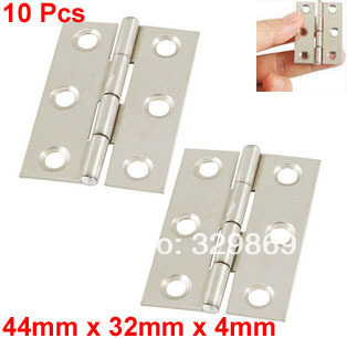 "10 Pcs Cabinet Drawer Door Stainless Steel Butt Hinges 2"" Long(China (Mainland))"