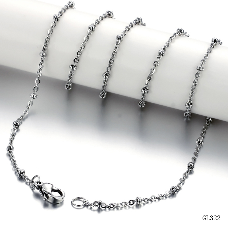 18' Inches New Shiny Light Titanium Chain Necklace All Match 322(China (Mainland))