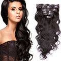 Hot Sale Malaysian Virgin Hair Clip In Hair Extensions straight 100% Human Hair Clip In Hair 7pieces/Set Natural Black 16″-30″