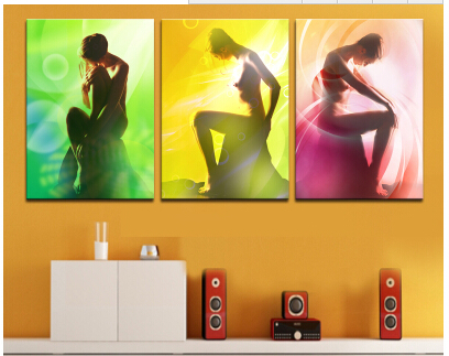 2015 No 30x40 Rushed New Body Art Photo Bedroom Living Room Decorative Painting Mural Paintings For Triple Hotel Wall Canvas(China (Mainland))