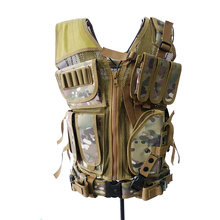 2016 New Men Tactical Vest Outdoor Military Tactical Army Polyester Airsoft War Game Camouflage Hunting Vest for Camping Hiking