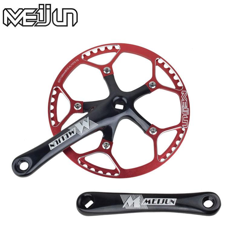 2015MTB mountain road bike MEIJUN SKT-R79 aluminum aolly chain wheels 45 47 53T 170mm Cranks Single-speed Chainwheels(China (Mainland))
