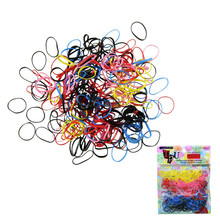 Hot 500Pcs/lot High Quality Acetate Rubber Hairband Rope kid Ponytail Holder Elastic Hair Tie Braids for girl hair accessory(China (Mainland))