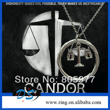 Divergent Inspired Candor/Honesty Scales of Justice Necklace Pendant Tris Prior(China (Mainland))