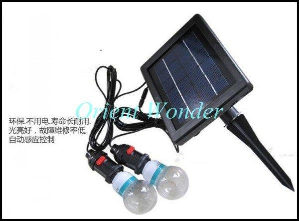 Free shipping,solar powered lighting system,indoor solar home lighting system with 2 lighting Portab