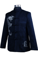Novelty Men's Classic Kung Fu Tang Suit Chinese Style Corduroy Coat Embroidered Dragon Jacket S M L XL XXL XXXL(China (Mainland))