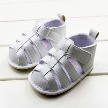 2014 New Summer Top Quality White Leather Uppers Soft Outsole Slip-resistant Toddler Girl Sandals Promotional Drop Shipping(China (Mainland))