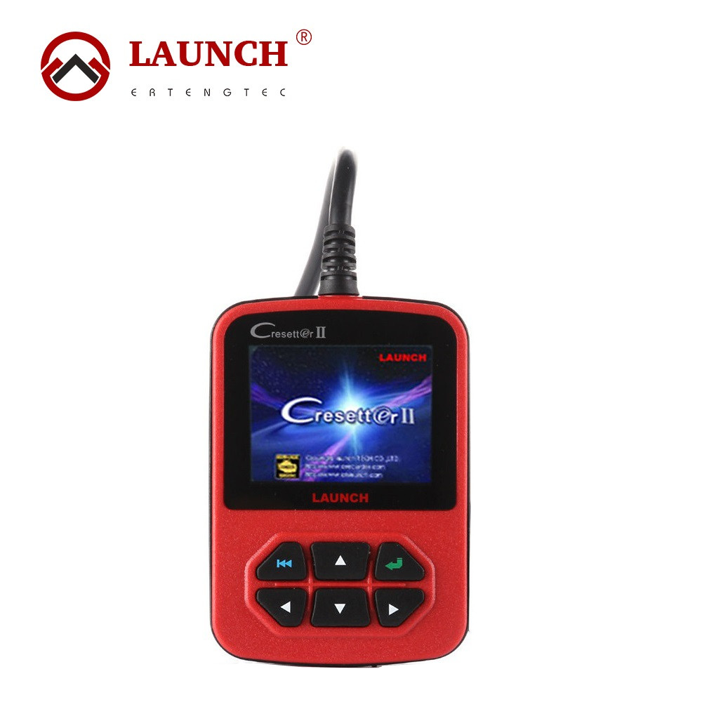 100% Original Launch X431 Cresetter II Oil Lamp Reset Tool With Color LED Display OBD II Code Reader Online Update(China (Mainland))