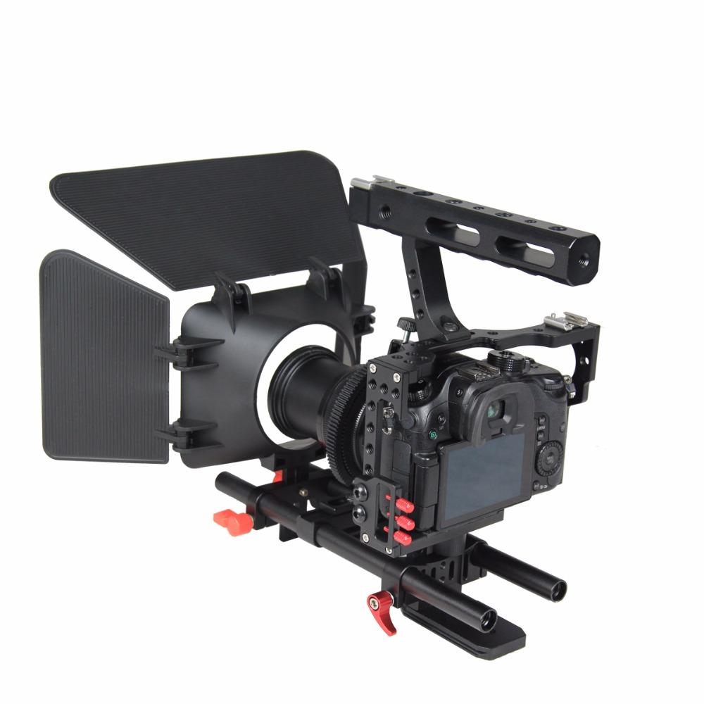 Camera Panasonic Dslr Video Camera online get cheap panasonic dslr video aliexpress com alibaba group professional aluminum camera cage rig kit system for sony alpha a7 a7ii a7s a7sii a7r