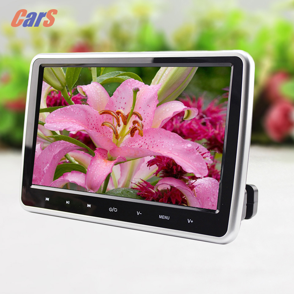 10 inch Car Headrest Monitor DC 12V 12W HDMI HD Digital Car LCD Tablet DVD Player DVD/USB/SD Player IR/FM Game disc(China (Mainland))