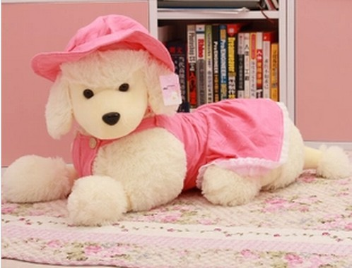 Free shipping dog plush toy MINIATURE POODLE plush toy Christmas gift 40cm(China (Mainland))