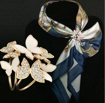Butterfly Scarf Clip / Channel Pin / Brooch for Women