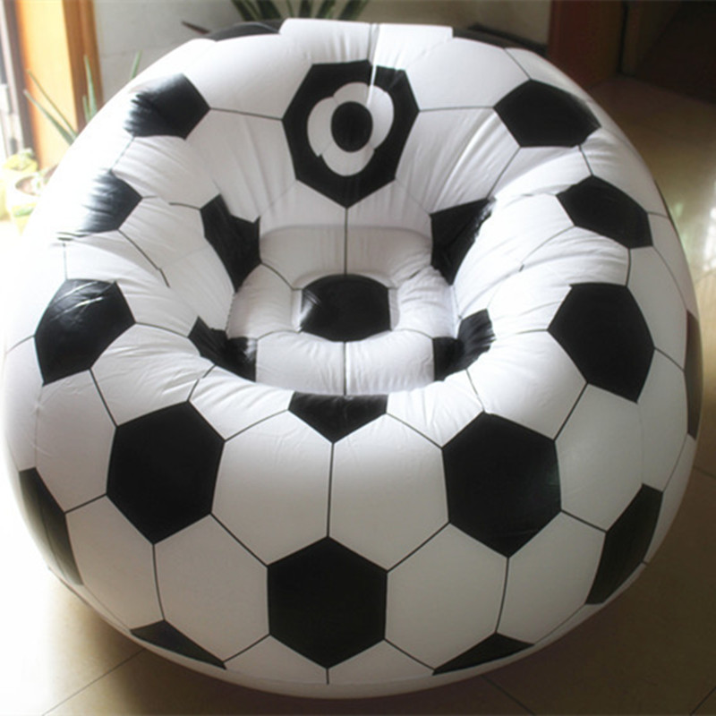 Living room sofa Inflatable basketball football sofa couch single seat settee Environment PVC white black Bearing100kgs Lounge(China (Mainland))