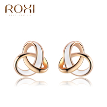 ROXI gold plated, trendy earrings ,wedding gift, Austrian crystal fashion Environmental Micro-Inserted Jewelry 2020732120(China (Mainland))