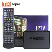 Mag250 IPTV de la caja superior 1 Year Subcription 600 + vivo IPTV caja cuenta Wifi Linux medios IPTV árabe francés Spainsh europeo