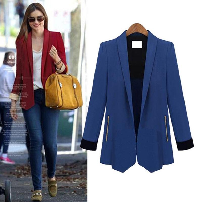 women blazers long sleeve royal blue blazer slim thin jacket occupation women suits blazer femme. Black Bedroom Furniture Sets. Home Design Ideas