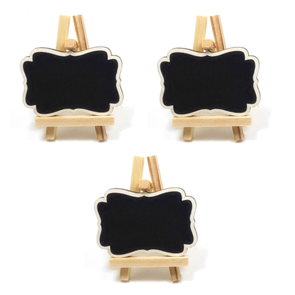 3pcs Framed Wooden Blackboard Chalk Board Pegs, Chalkboard Clips Wedding Table Decoration,Place Setting, Party Favor(China (Mainland))