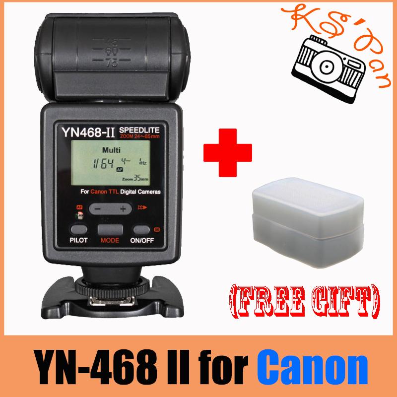 Yongnuo YN-468 II for Canon, YN468II YN468 II ETTL E-TTL Flash Speedlite 1000D 30D 350D 400D 40D 450D 500D 50D 550D 5D II 60D 7D<br><br>Aliexpress