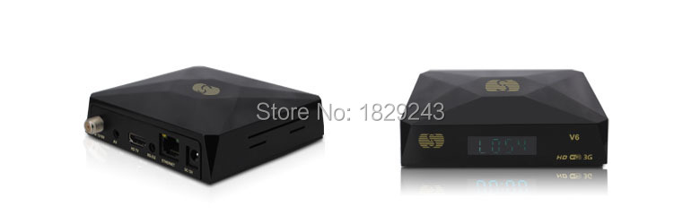 2pcs Free shipping S-V6 MINI TV Box Original SKYBOX Satellite Receiver for 3G DVB-S2 Support CCCAM NEWCAM for Wholesale(China (Mainland))