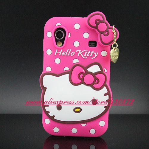 For Samsung Galaxy Ace S5830 Case 3D Silicon Hello Kitty Soft Cell Phone Back Cover for Samsung Galaxy Ace S5830 GT 5830 S5830i(China (Mainland))