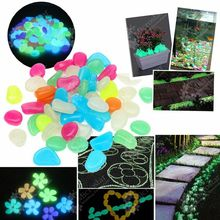 Garden Ornaments 100pcs Mixed Color Glow In The Dark Luminous Pebbles Stones Wedding Decoration Crafts Home Party Event Supplies(China (Mainland))