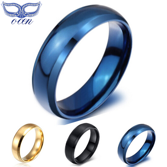 Minorder$10 Never fading 18k simple Classic Wedding rings yellow Gold filled Titanium steel rings for men and women jewelry(China (Mainland))