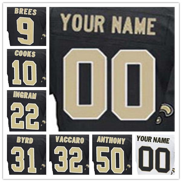 100% stitched With Customized Men's #9 Drew #10 Brandin #22 Mark Elite football jerseys(China (Mainland))