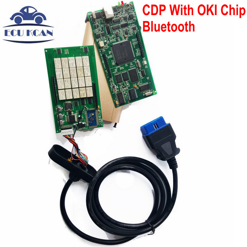 Best Quality TCS CDP With OKI Chip ( M6636B OKI Chip )  CDP PRO Scanner With Bluetooth + Newest Version V2014.02 With Keygen<br><br>Aliexpress