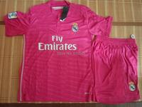 2014 2015 top quality real madrid pink csoccer jerseys Real Madrid pink soccer uniform soccer jerseys football jerseys&short