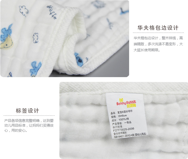 6 layers  Super soft breathable muslin cotton Newborn Baby swaddling gauze washed baby blanket thick bath towel cat Fawn pattern