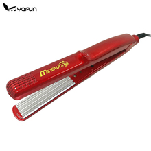 YAFUN Red Corrugated Curling Hair Chapinha Hair Straightener Crimper Fluffy Small Waves Hair Curlers Curling Irons Styling Tools(China (Mainland))
