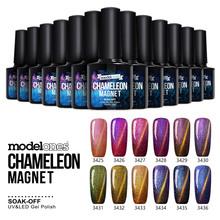 Modelones 1Pcs Newest Chameleon Magnet Nail Gel Soak Off UV Gel Polish lacquer nail glue(China (Mainland))