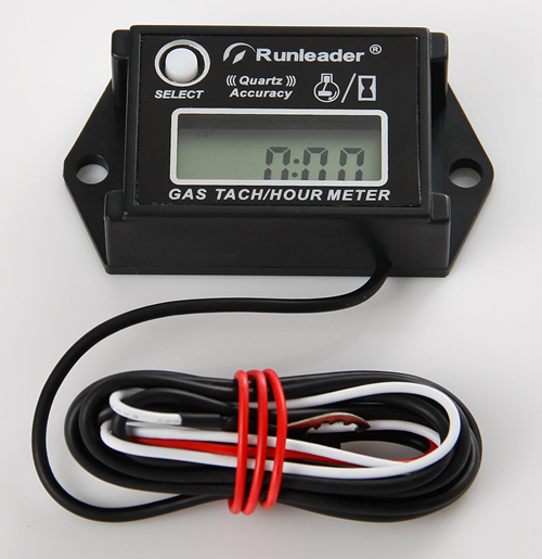Free Shipping Gasoline Engine Tachometer Hour Meter for ATV motorcycle snowmobile marine boat jet ski engine