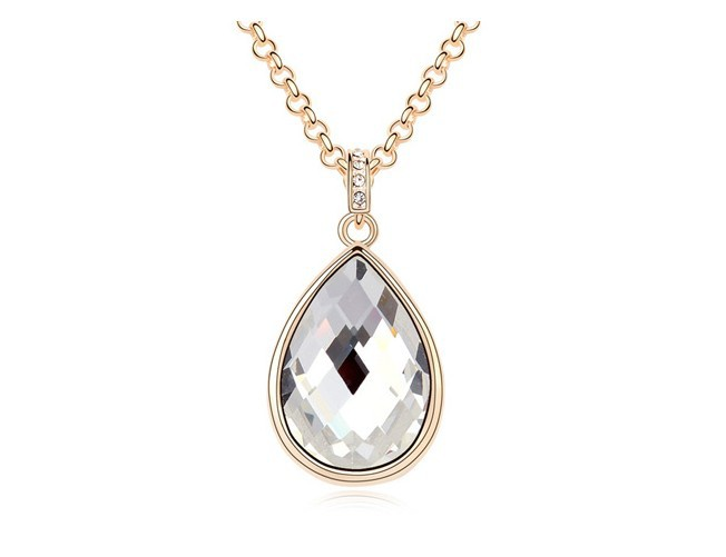 Rose Gold Plated New York Promotional 80+5cm Long Chian Winter Women Fashion Crystal Drop Pendant Jewelry Necklaces - Elieen (min,order $5 store)