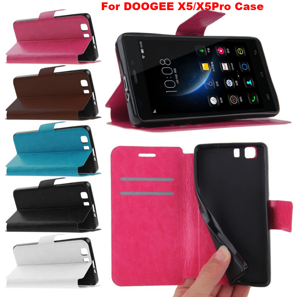 Hot 100% Original Cover For Doogee X5 Pro Case Leather+TPU Phone Protective For Smartphone Doogee X5 5.0 Inch Soft Card Bag(China (Mainland))
