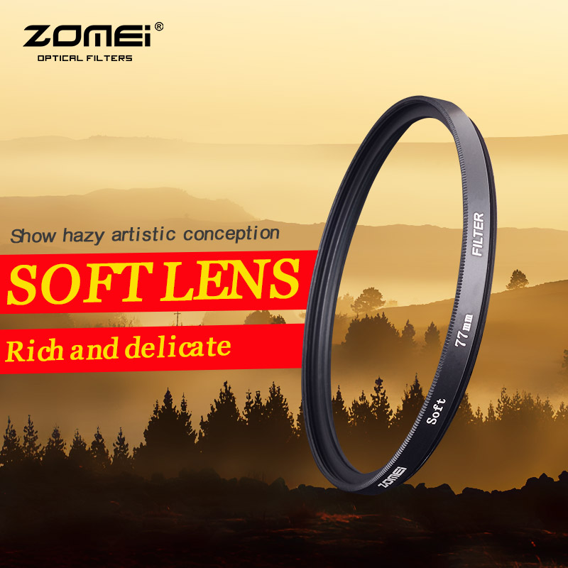 ZOMEI 77mm Soft Filter Special Effect Diffuser Lens Filter Soft Focus Dreamy Hazy Portrait for Nikon Canon Sony(China (Mainland))