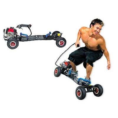 Gas powered skateboard motor scooter 49cc motorized 2 stroke engine wheel man(China (Mainland))